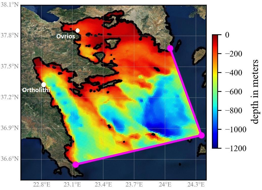 HiSea aquaculture model used in scientific research assessing seawater temperature predictions